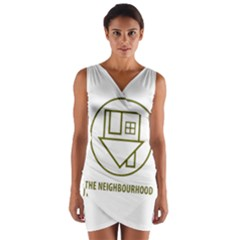 The Neighbourhood Logo Wrap Front Bodycon Dress by Celenk