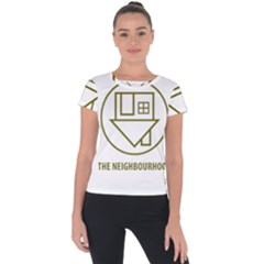 The Neighbourhood Logo Short Sleeve Sports Top  by Celenk