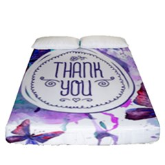 Thank You Fitted Sheet (queen Size) by Celenk