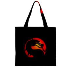Dragon Zipper Grocery Tote Bag by Celenk