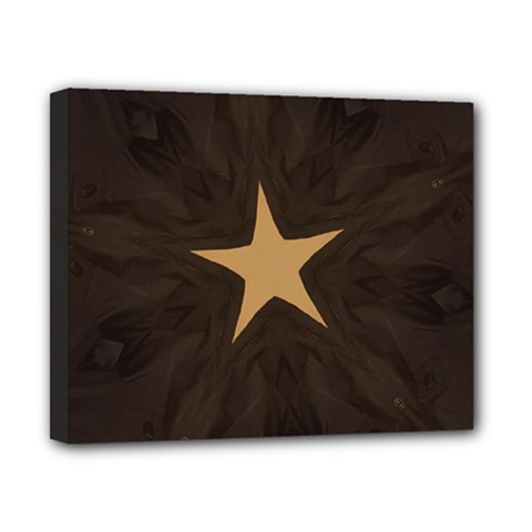 Rustic Elegant Brown Christmas Star Design Canvas 10  X 8  by yoursparklingshop