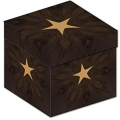 Rustic Elegant Brown Christmas Star Design Storage Stool 12   by yoursparklingshop