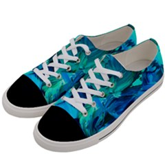 Abstract Acryl Art Women s Low Top Canvas Sneakers by tarastyle