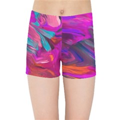 Abstract Acryl Art Kids Sports Shorts by tarastyle