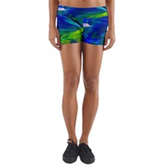 Abstract Acryl Art Yoga Shorts by tarastyle