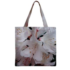 Floral Design White Flowers Photography Grocery Tote Bag by yoursparklingshop