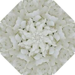 Hydrangea Flowers Blossom White Floral Elegant Bridal Chic Golf Umbrellas by yoursparklingshop