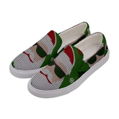 Ugly Christmas Sweater Women s Canvas Slip Ons by Valentinaart