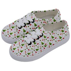 Christmas Pattern Kids  Classic Low Top Sneakers by Valentinaart
