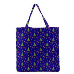 Christmas Pattern Grocery Tote Bag by Valentinaart