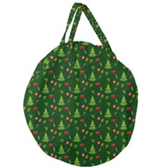 Christmas Pattern Giant Round Zipper Tote by Valentinaart