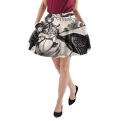 Vintage Thanksgiving A Line Pocket Skirt by Valentinaart