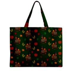 Thanksgiving Turkey  Zipper Mini Tote Bag by Valentinaart