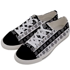 Snowflakes   Christmas Pattern Women s Low Top Canvas Sneakers by Valentinaart