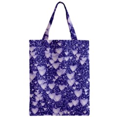 Hearts On Sparkling Glitter Print, Blue Classic Tote Bag by MoreColorsinLife