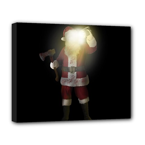 Santa Killer Deluxe Canvas 20  X 16   by Valentinaart