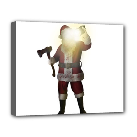 Santa Killer Deluxe Canvas 20  X 16   by Valentinaart