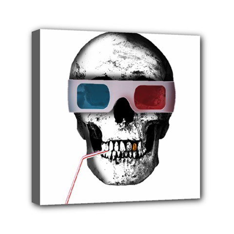 Cinema Skull Mini Canvas 6  X 6  by Valentinaart