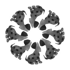Dalmatian Inspired Silhouette Hook Handle Umbrellas (small) by InspiredShadows