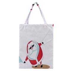 Christmas Santa Claus Snow Cool Sky Classic Tote Bag by Alisyart