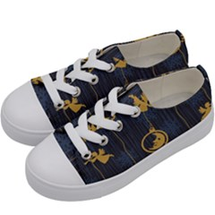 Christmas Angelsstar Yellow Blue Cool Kids  Low Top Canvas Sneakers by Alisyart