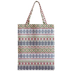 Christmas Star Flower Red Blue Zipper Classic Tote Bag by Alisyart