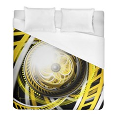 Incredible Eye Of A Yellow Construction Robot Duvet Cover (full/ Double Size) by jayaprime