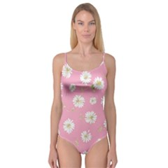 Pink Flowers Camisole Leotard  by 8fugoso