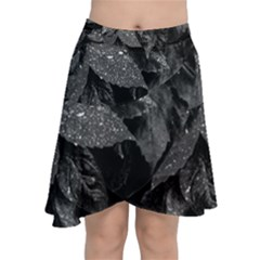Black And White Leaves Photo Chiffon Wrap by dflcprintsclothing