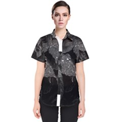 Black And White Leaves Photo Women s Short Sleeve Shirt by dflcprintsclothing