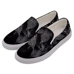 Black And White Leaves Photo Men s Canvas Slip Ons by dflcprintsclothing