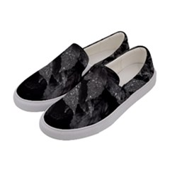Black And White Leaves Photo Women s Canvas Slip Ons by dflcprintsclothing