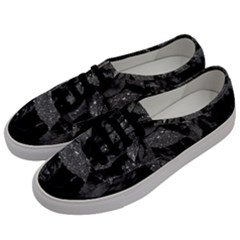Black And White Leaves Photo Men s Classic Low Top Sneakers by dflcprintsclothing