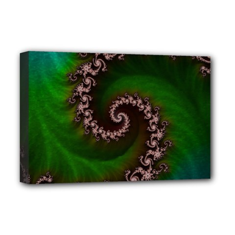 Benthic Saltlife Fractal Tribute For Reef Divers Deluxe Canvas 18  X 12   by jayaprime