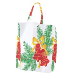 New Year Christmas Bells Tree Giant Grocery Zipper Tote by Alisyart