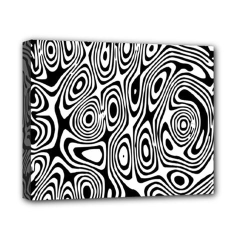 Psychedelic Zebra Black Circle Canvas 10  X 8  by Alisyart