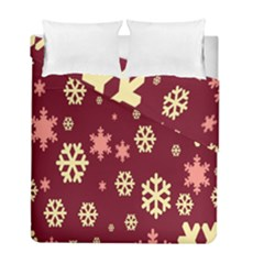 Snowflake Winter Illustration Colour Duvet Cover Double Side (full/ Double Size)