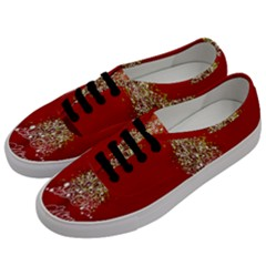 Tree Merry Christmas Red Star Women s Classic Low Top Sneakers by Alisyart