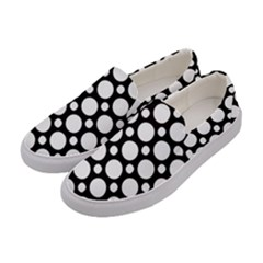 Tileable Circle Pattern Polka Dots Women s Canvas Slip Ons by Alisyart