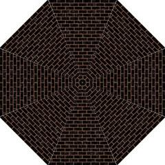 Brick1 Black Marble & Brown Denim (r) Golf Umbrellas by trendistuff