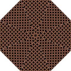 Circles3 Black Marble & Brown Denim (r) Hook Handle Umbrellas (medium) by trendistuff