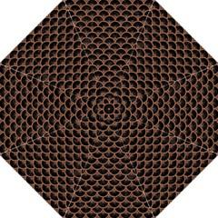 Scales3 Black Marble & Brown Denim (r) Hook Handle Umbrellas (large) by trendistuff