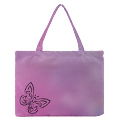 Butterfly Zipper Medium Tote Bag by PhotoThisxyz