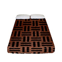 Woven1 Black Marble & Brown Denim Fitted Sheet (full/ Double Size)