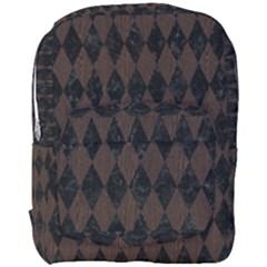 Diamond1 Black Marble & Dark Brown Wood Full Print Backpack by trendistuff
