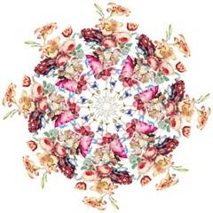 Fleur Vintage Floral Painting Straight Umbrellas by Celenk