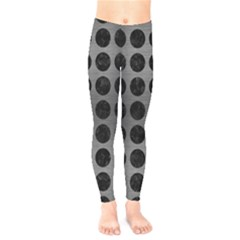 Circles1 Black Marble & Gray Brushed Metal Kids  Legging by trendistuff