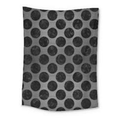 Circles2 Black Marble & Gray Brushed Metal Medium Tapestry by trendistuff