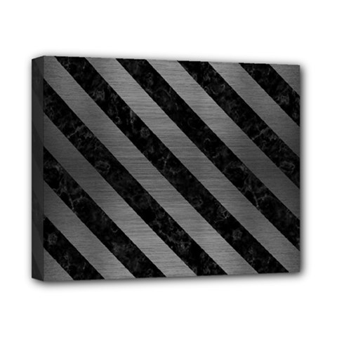Stripes3 Black Marble & Gray Brushed Metal Canvas 10  X 8  by trendistuff