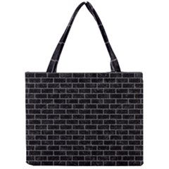 Brick1 Black Marble & Gray Denim (r) Mini Tote Bag by trendistuff